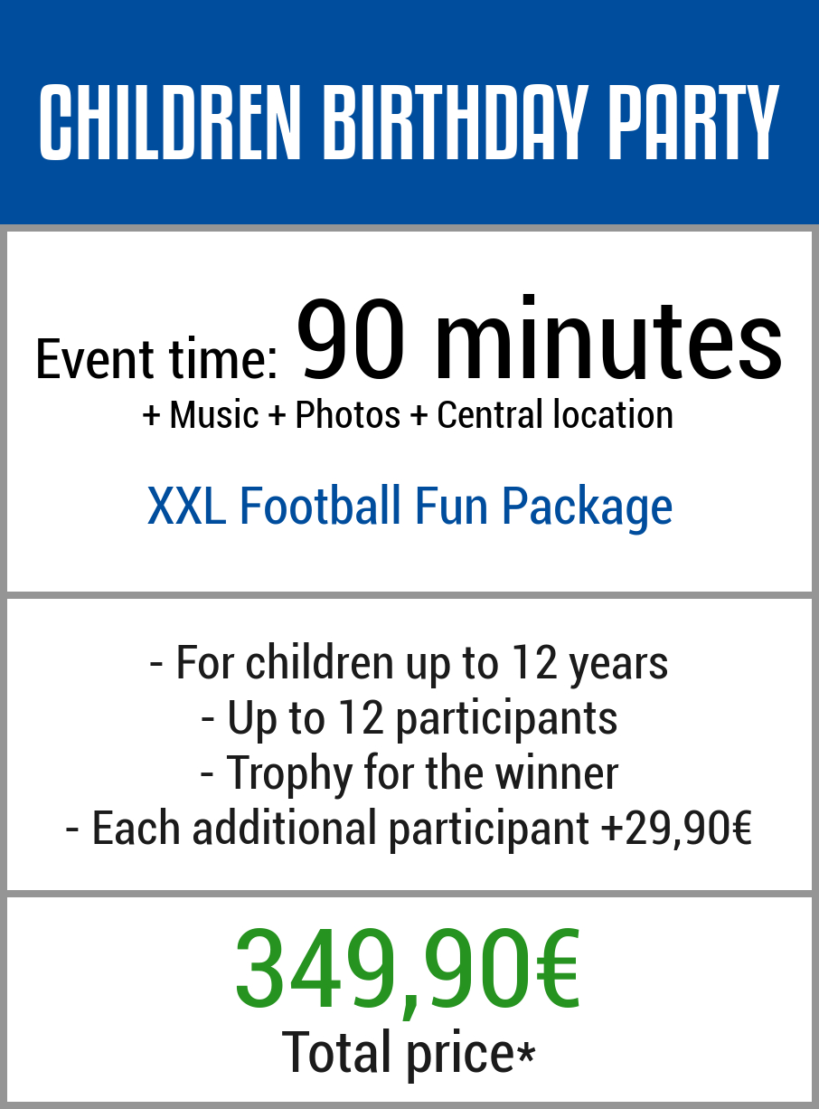 Childrens birthday party soccer Germany
