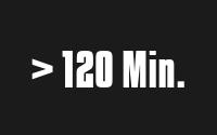 Mehr als 120 Min.